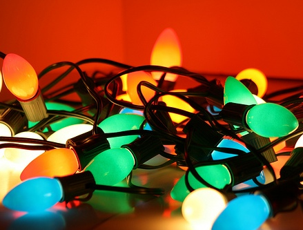 Old-school, large bulb Christmas lights bring back so many great memories