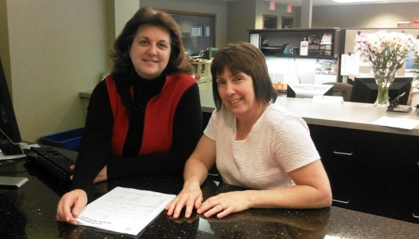 Our new dynamic duo - Mary Cox (left) and Benita LaLone (right).