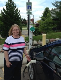 Jan Waun - Chevy Volt driver and visitor to Auburn Hills City Hall yesterday