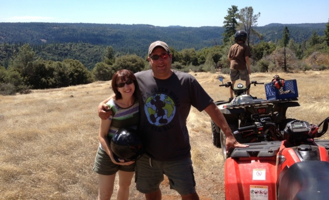 Drove an ATV up a mountain at my Uncle Tim's house near Lake Tahoe.  A first for me.