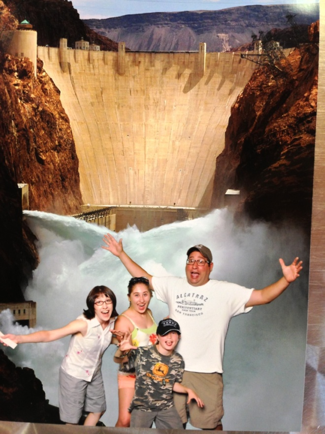 It was 107 degrees during our visit to the Hoover Dam.
