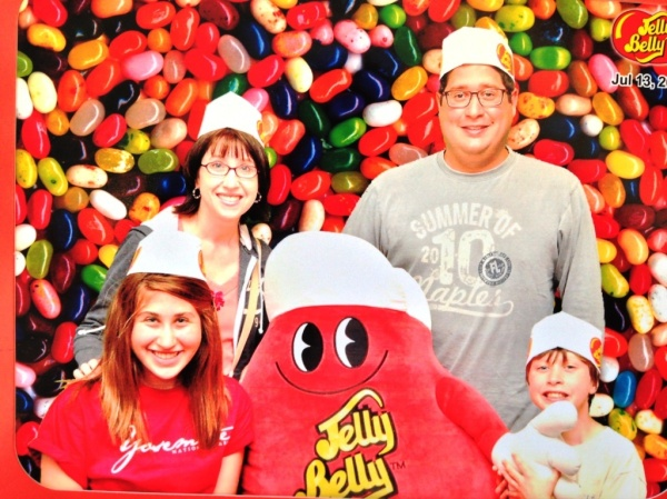 We suprised the kids with a visit to the Jelly Belly Factory.