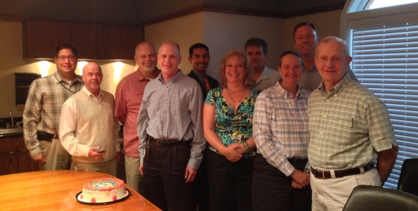 The Planning Commission recently celebrating Shawn Keenan obtaining professional city planner certification