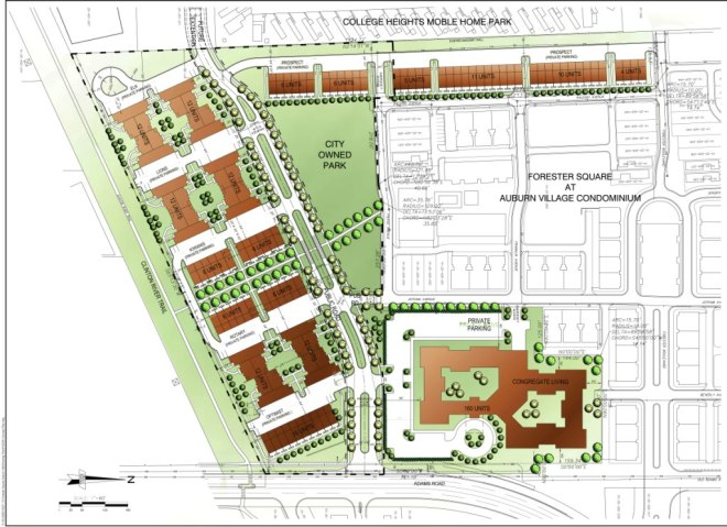 """The overall development plan for """"The Parkways"""""""