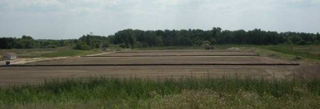 The soccer fields are almost ready to be seeded.