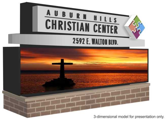 New LED sign proposed at the Auburn Hills Christian Center
