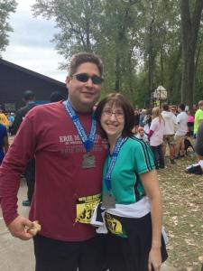 My wife and I after finishing the race.