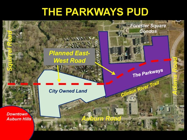 General Location of The Parkways