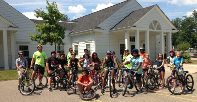 "Photo from the Auburn Hills Summer Camp - Kids brought their bikes and went on a ""bike trip"" to 7-11 and back … like the good old days!"