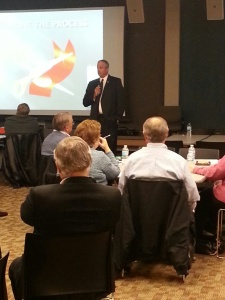 Pete Auger speaking at the One Stop Ready workshop this past Wednesday