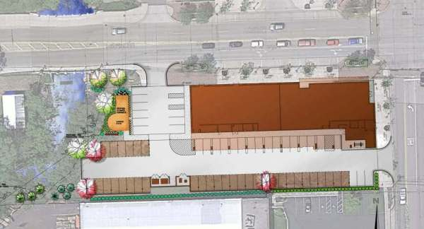 Layout of the project located at the southwest corner of Auburn and Squirrel Roads