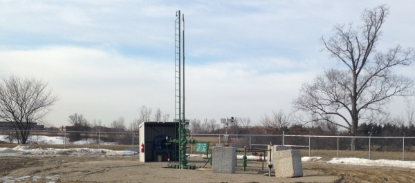 Photo of an oil and gas well we visited on the campus of Schoolcraft College in Livonia