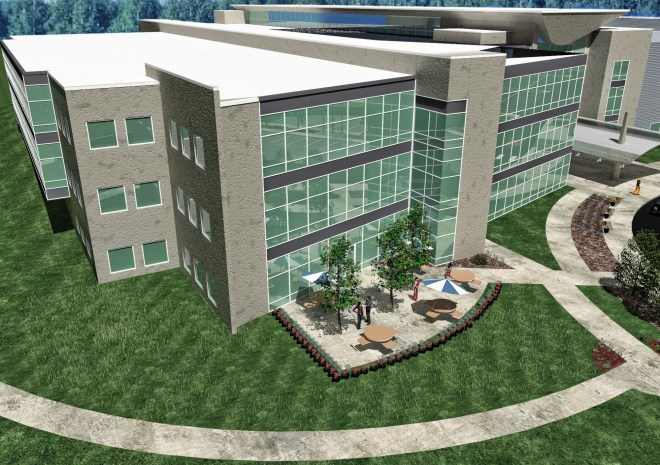 Bird's Eye View Rendering of BorgWarner's Building Expansion