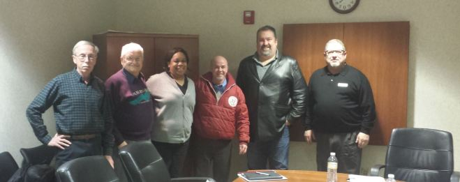 Zoning Board of Appeals (from left to right) Robert Luttermoser, Henry Knight, Trina Burrell, Greg Ouellette, Robert Waltenspiel and Building Official, Jeff Spencer
