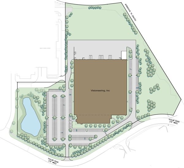 Site Plan for New Visioneering Building