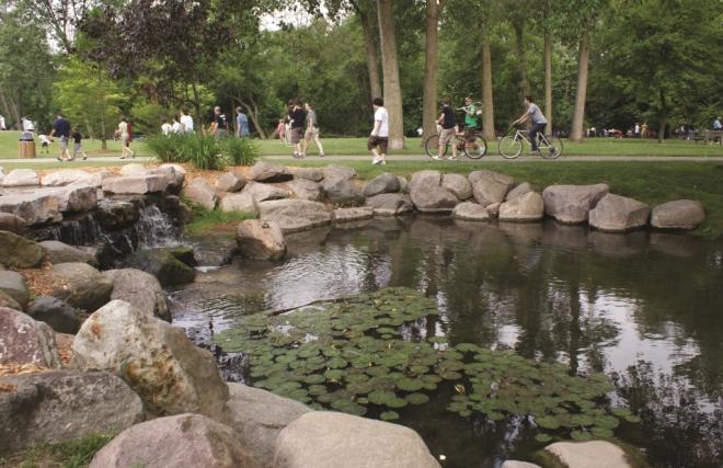 Riverside Park in Downtown Auburn Hills