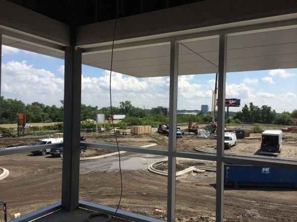 Conference room under construction with a view of Fiat Chrysler Automobiles N.A. Headquarters