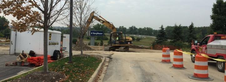 Grade being established for new parking area