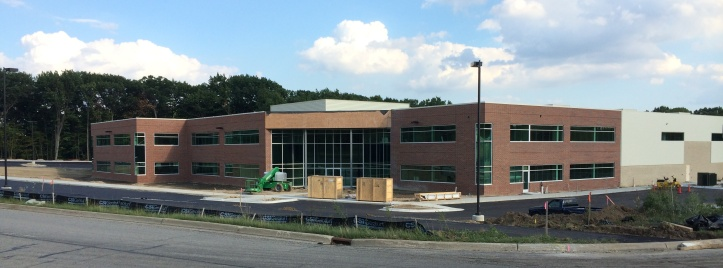 Finishing touches are being done to prepare the Atlas Copco building for October 1st