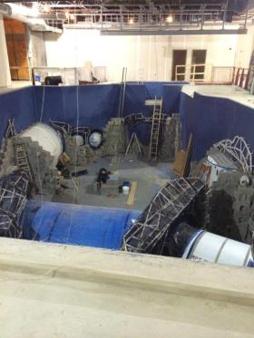 Construction of the main aquarium