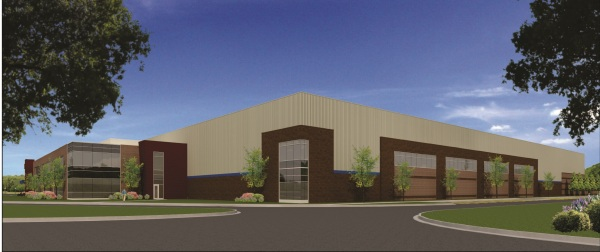 Artist rendering of the finished building