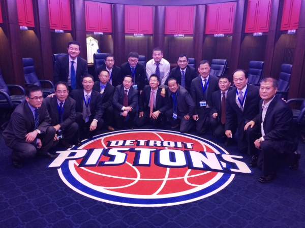 The NBA is huge in China.  Many told us visiting The Palace of Auburn Hills was the highlight of their trip.