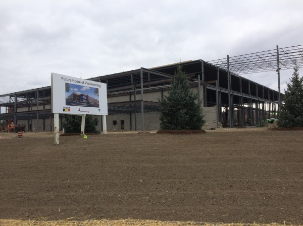 Steel is up and trees are being planted at the new Visioneering Headquarters