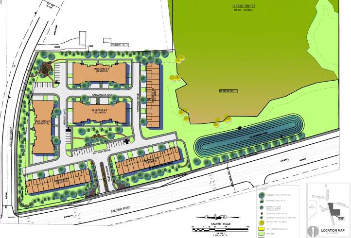 Site Plan for Mosaic of Auburn Hills