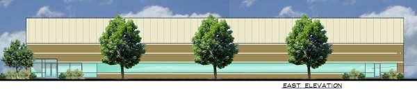Proposed building facade elevation facing I-75