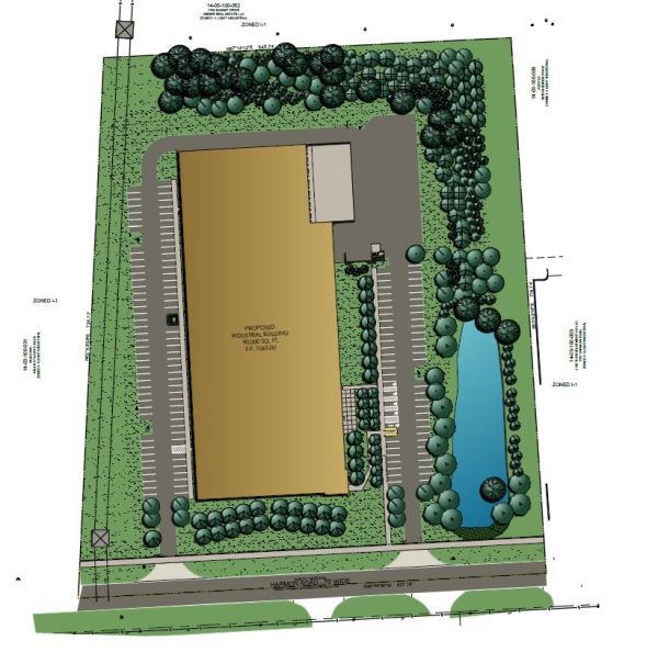 Site plan showing the layout of the new project