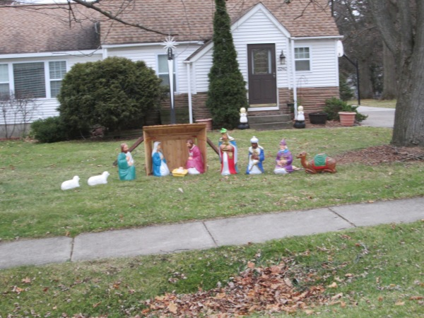 On Richwood is this peaceful Nativity scene.