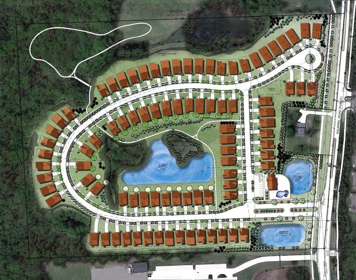 Site Plan for Villa Montclair