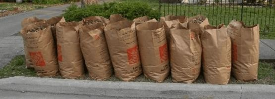 lawn clean up bags