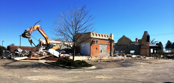 Former Palm Palace restaurant being demolished today