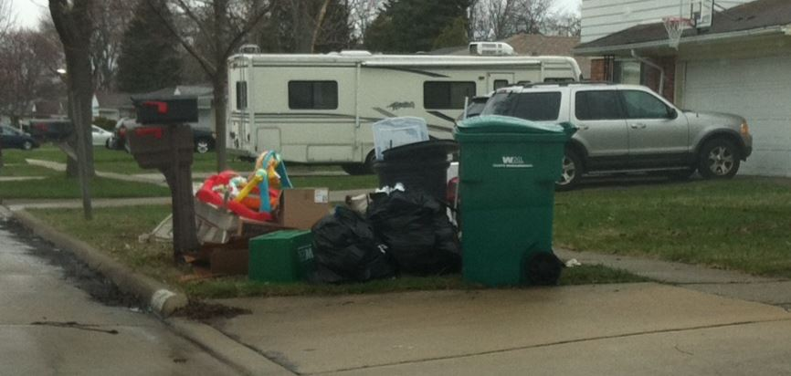 Garbage Pick Up : Developing thoughts honoring the past building