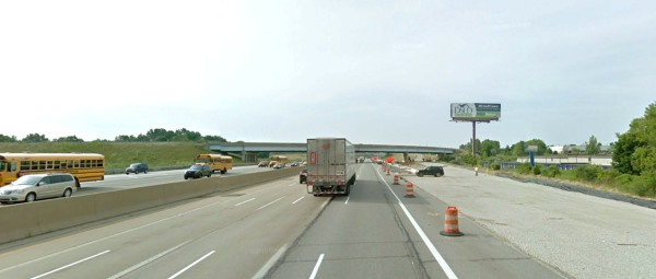 Artist rendering of the proposed digital billboard (view looking from southbound I-75)