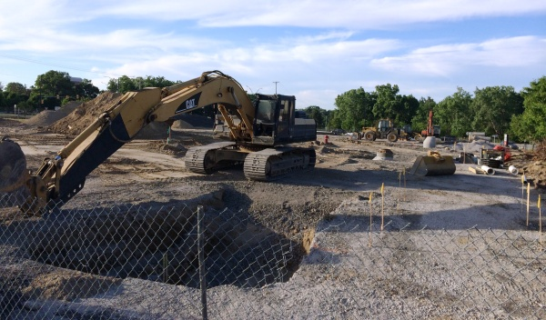 Construction of a retail center is underway at the northwest corner of N. Squirrel Road and University Drive