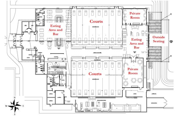 Floor plan for The H.U.B.
